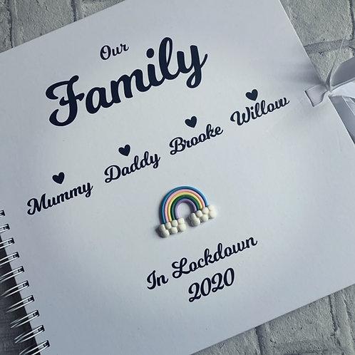 Lockdown 2020 personalised family scrapbook Large