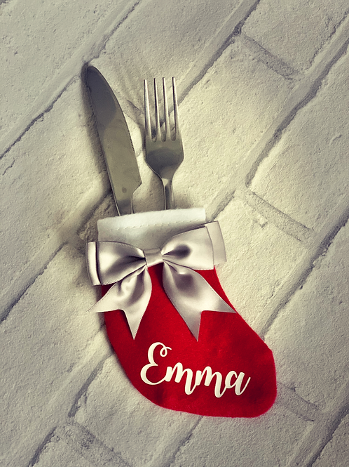 Festive Cutlery holder table place names