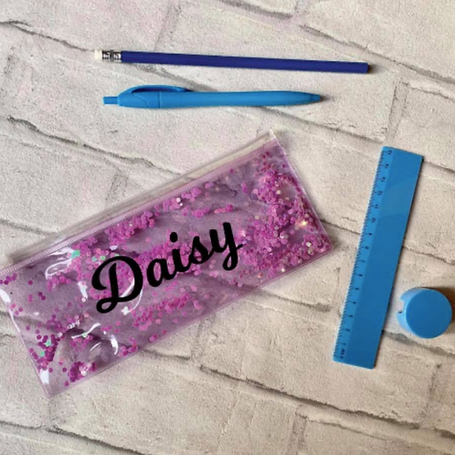 Personalised Pencil Case with stationary