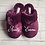 Thumbnail: Burgundy Personalised Slippers