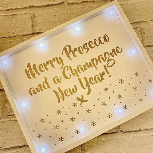 Prosecco Champagne Xmas Sign