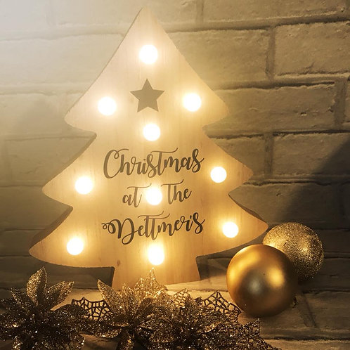 Personalised Light Up Christmas Tree