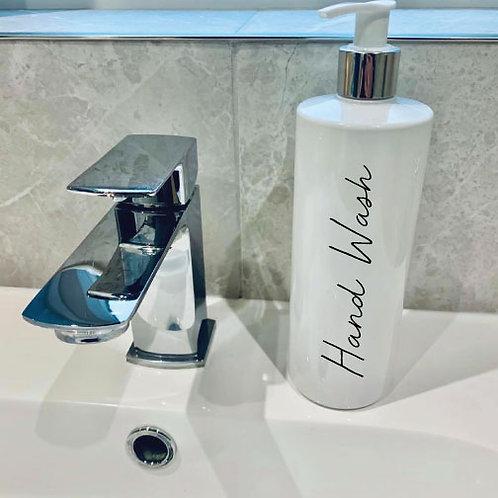 Single Personalised reusable pump bottles, Mrs Hinch Inspired