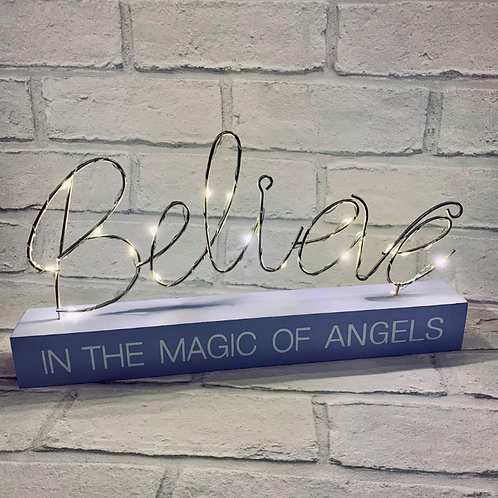 LED String Sign Believe in the Magic of Angels