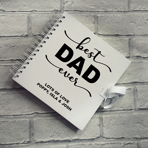 Personalised Fathers Day Scrapbook Best Dad Ever... design