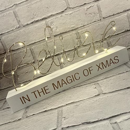 LED String Sign Believe in the Magic of Xmas
