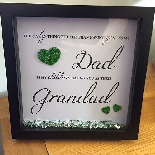 Personalise a frame for your Dad/Grandad with your children's name