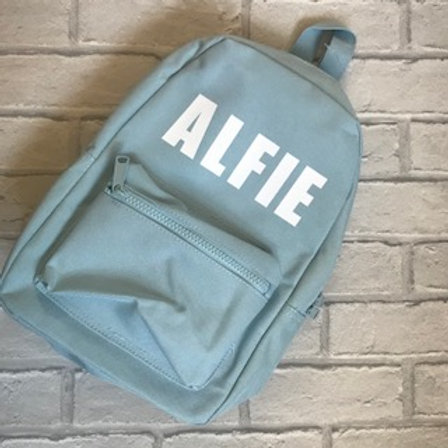 Personalised Baby Blue Back Pack