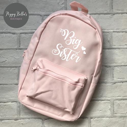 Big sis, Lil sis matching backpacks (set of 2) in pink