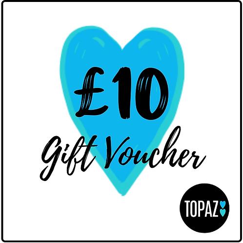 £10 Topaz Gift Voucher