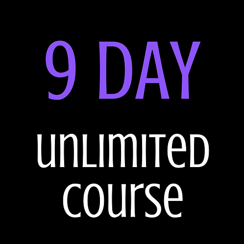9 day Unlimited Tanning Course