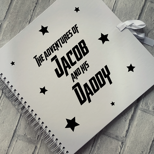 Personalised Fathers Day Scrapbook Adventures of... design