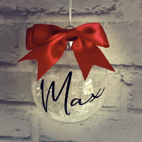 Personalised Bauble Red & White