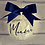 Thumbnail: Personalised Bauble Navy & White