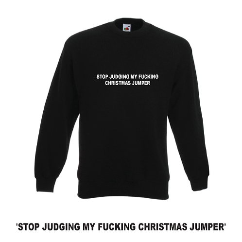 RUDE Christmas unisex Jumper, do not click if easily offended