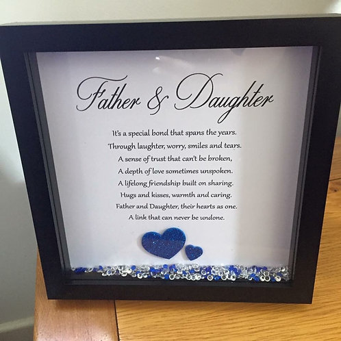 Father & Daughter (or Son) Sentimental Frame