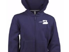 Sweat zippée bleu marine Enfant Mixte