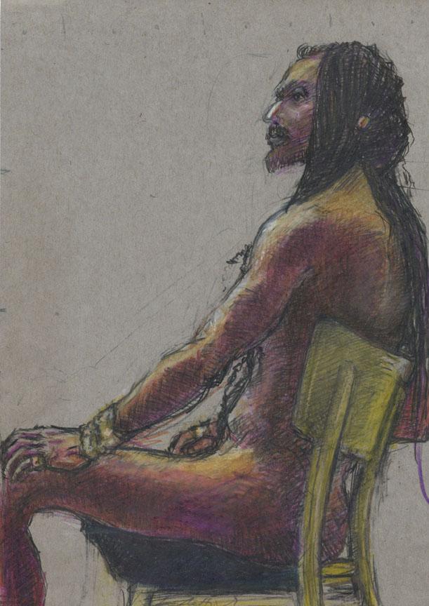 Seated Araber