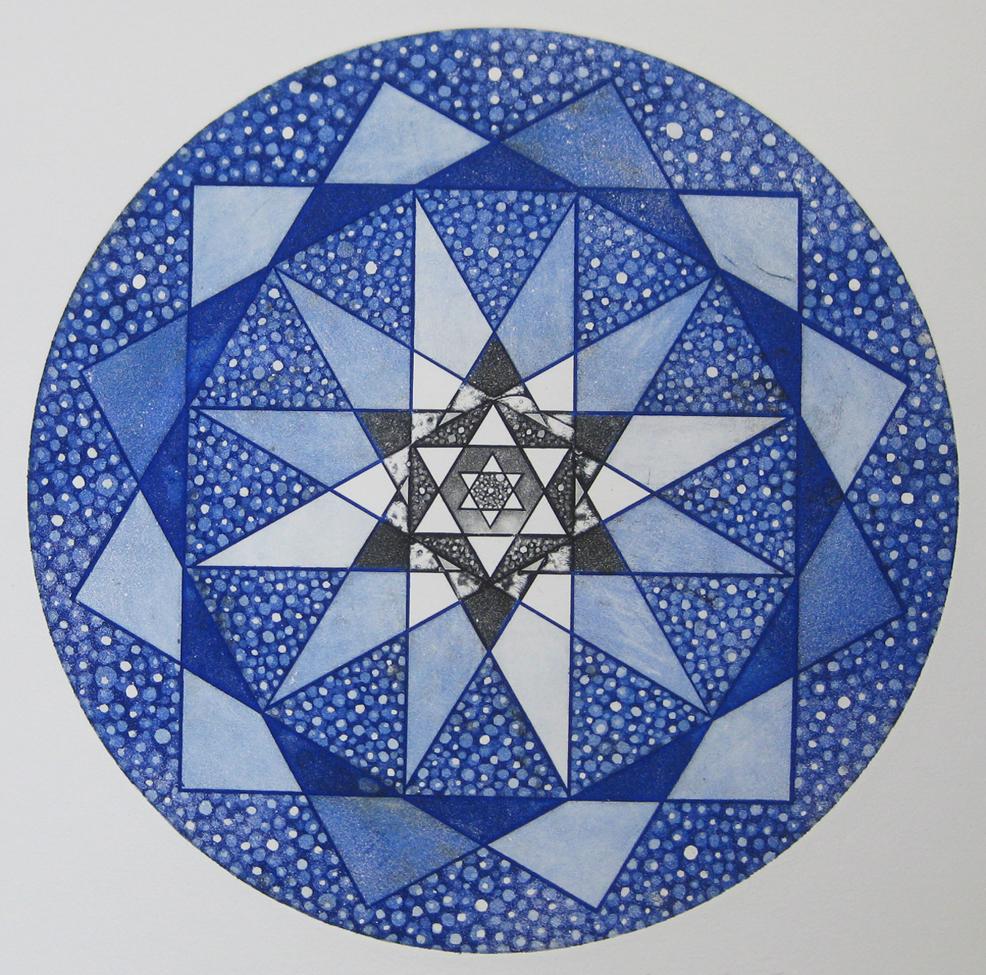Solomon's Sunflower Star   18dia.   2014   etching