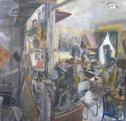 Studio Interior with Magdalene and Niobi