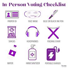 In-Person Voting Checklist - Downloadable