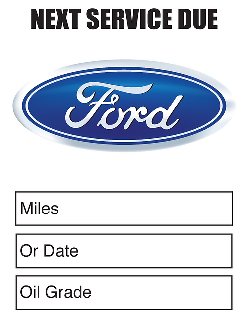 FORD Oil Change Stickers