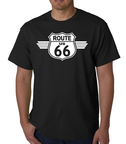 Route 66 Black  T Shirt