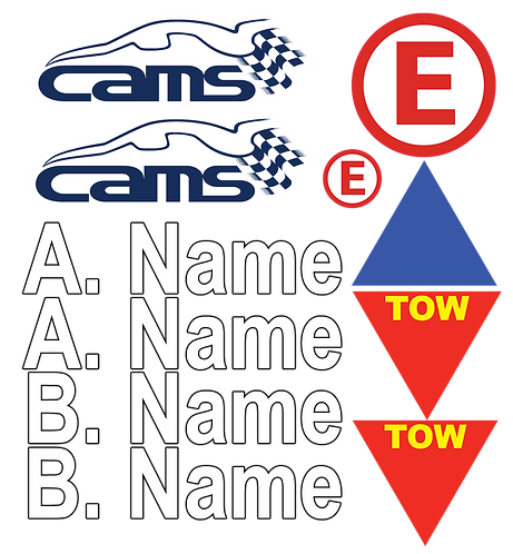 CAMS + NAMES Sticker Pack