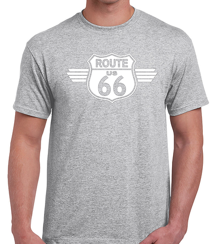 Route 66 Grey  T Shirt