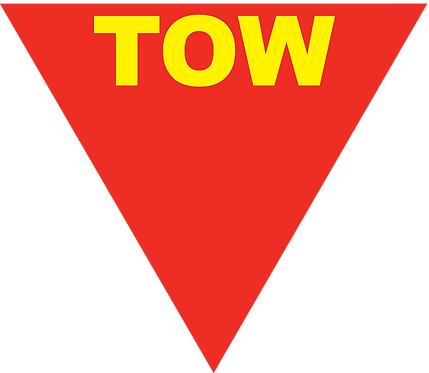 2 x TOW Sticker