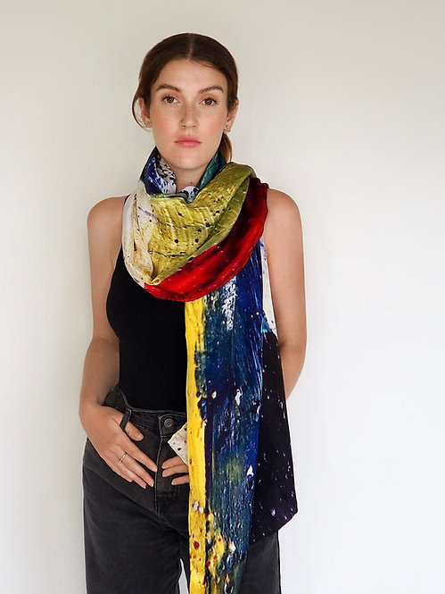 """WILDSCAPE"" LONG SILK WRAP"