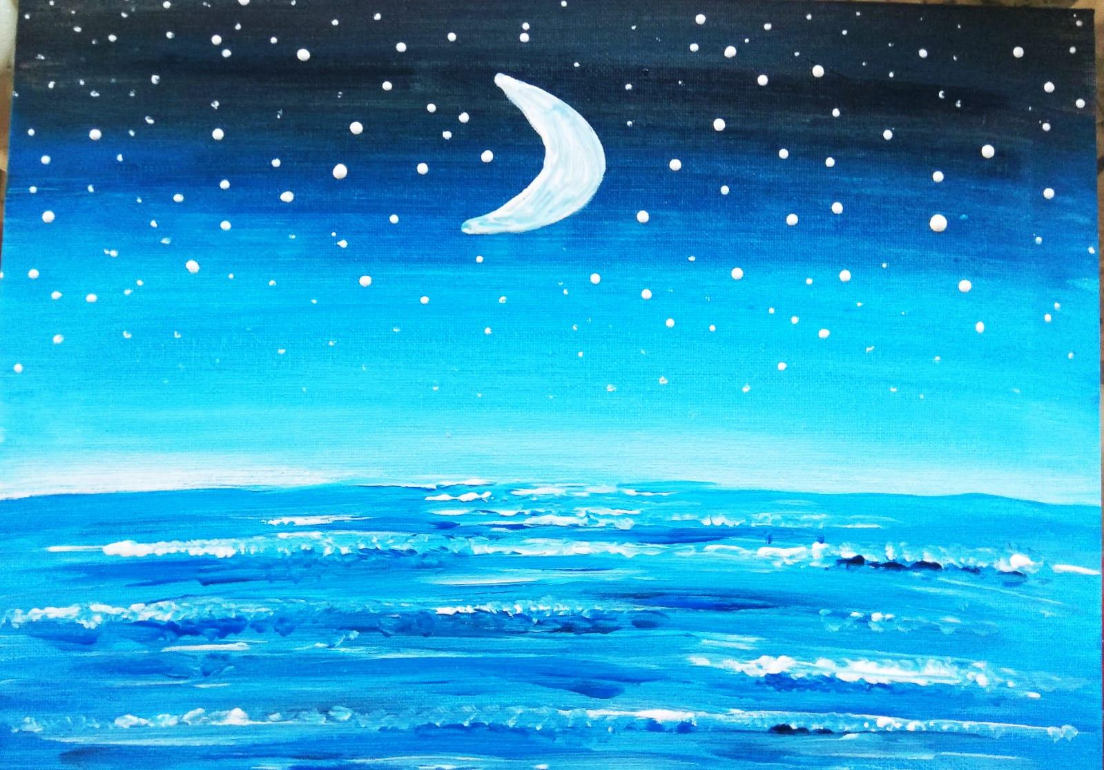 Ocean, Moon, & Stars