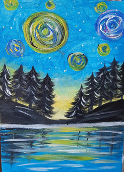 Starry Night in a Forest