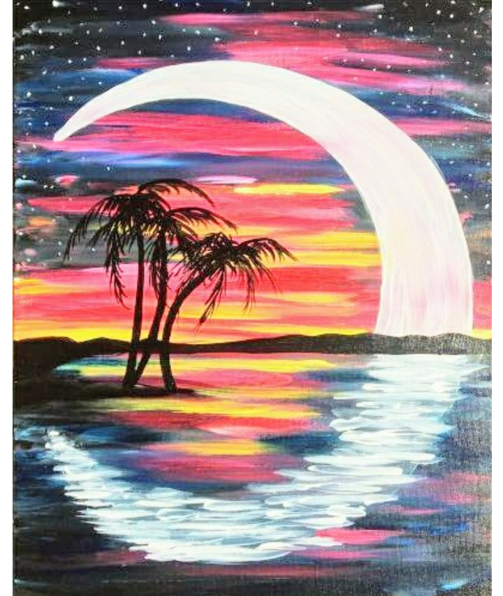 Tropical Moon Rise