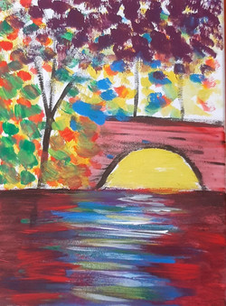 Bridge over Colorful Water