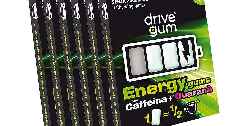 6 pacchetti DRIVE GUM