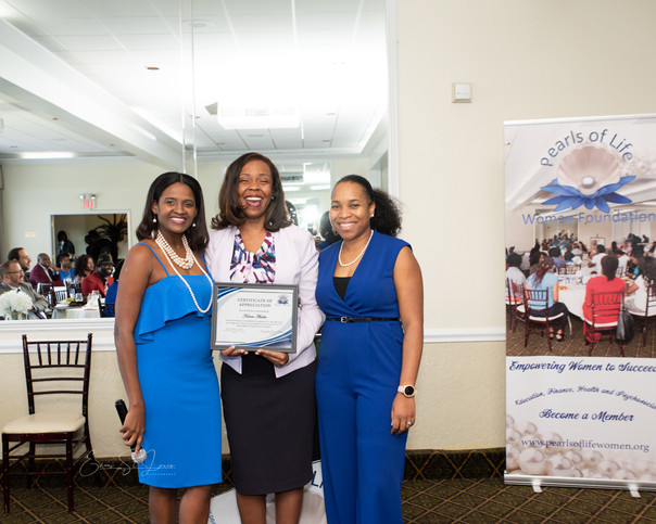 Mme President and Treasurer with Ms. Karen Andre