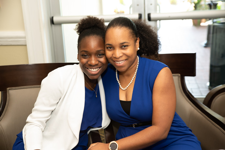 Mme Treasurer and daughter