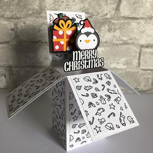 Christmas Penguin Box Card
