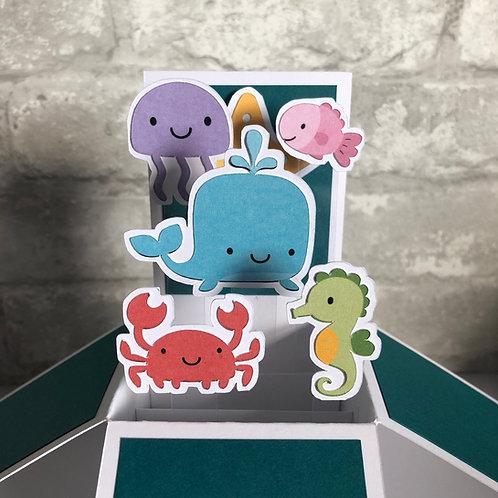 Sea Creature Birthday Box Card