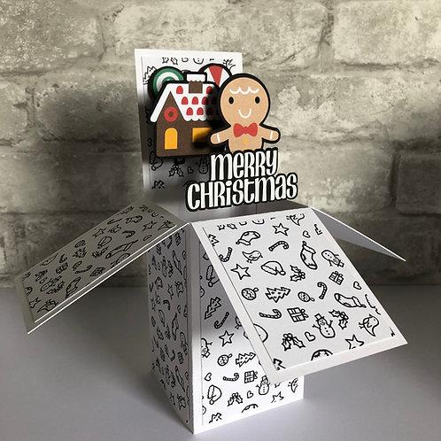 Christmas Gingerbread Man Box Card