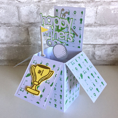 Father's Day Golf Box Card