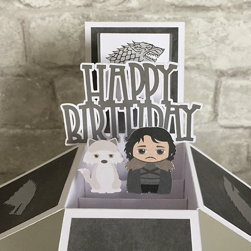 Game of Thrones inspired Birthday Box Card