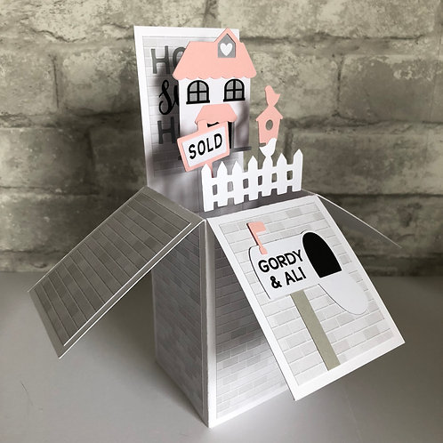 New Home Personalised Box Card