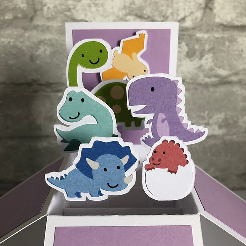 Dinosaur Birthday Box Card