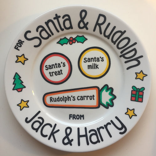 Personalised Decorative Christmas Eve Plate