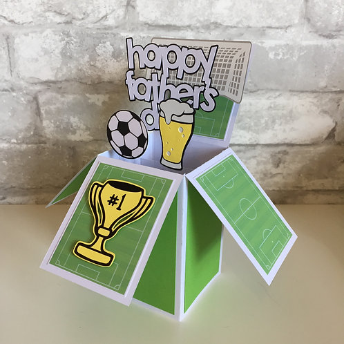 Father's Day Football Box Card