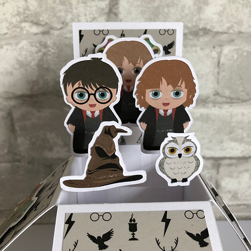 Harry Potter Inspired Birthday Box Card