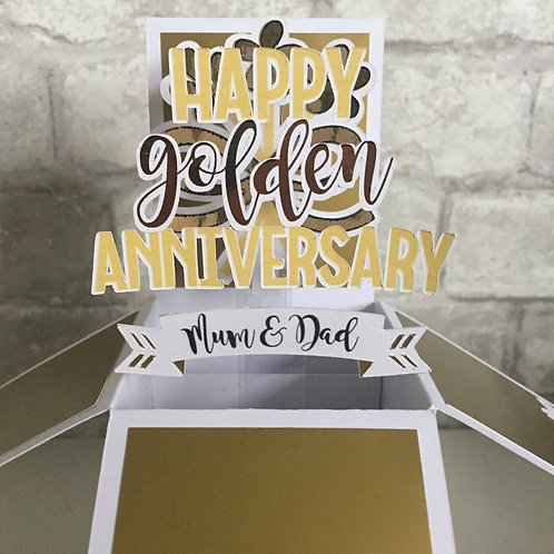 Personalised Anniversary Box Card