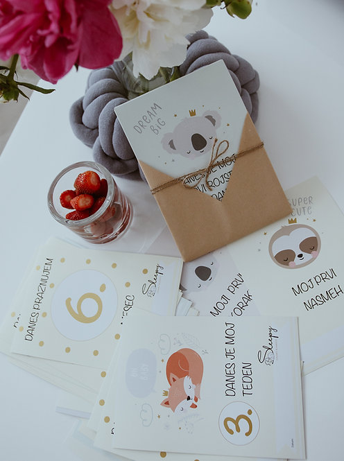 MILESTONE kartice za fotografiranje dojenčka